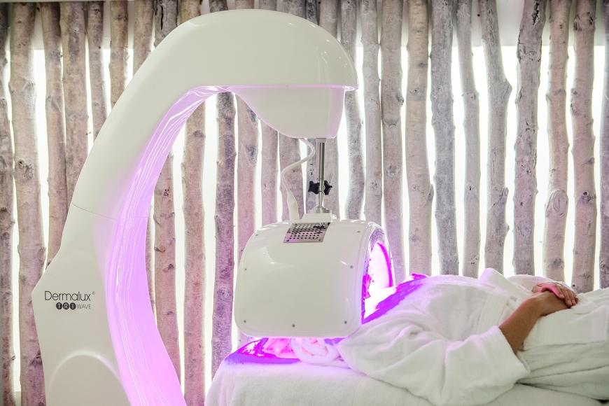The Well LED light therapy facial